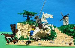 01 (zgrredek) Tags: horse windmill lego quijote donkey don quixote sancho pansa kichot zgrredek