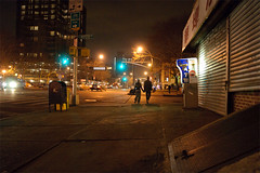 (nschaden) Tags: nyc silhouette night walking landscape lights nikon lowereastside wide 1755mmf28g d300