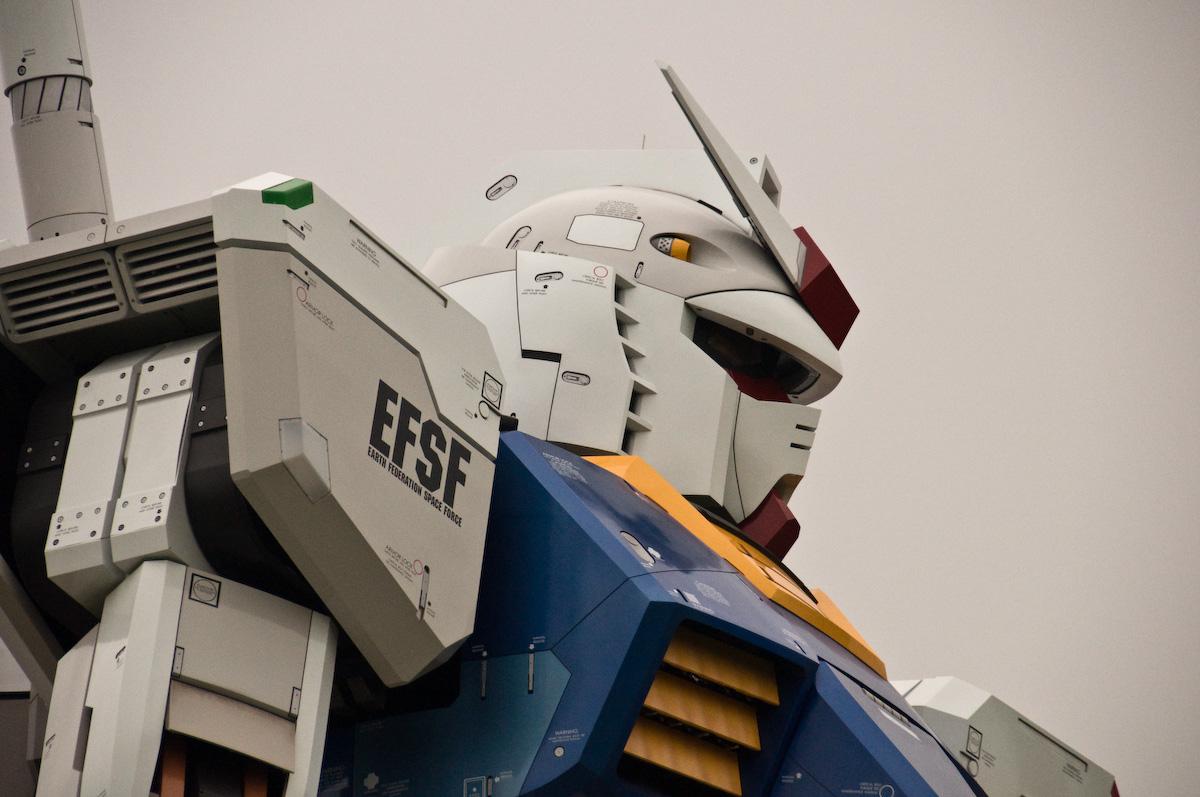 Gundam cabeza Tokio