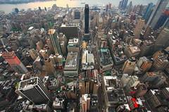 East Manhattan (Charles Chi Zhang) Tags: city newyork building architecture manhattan empirestatebuilding birdseyeview
