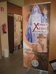 Panel que abre a exposición sobre Xohán Xesús