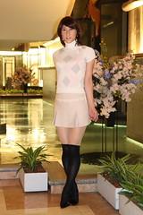 day119-f02301 beige mini skirt (Yumiko Misaki) Tags: beige mini skirt day119 ebichan cancam prideglide