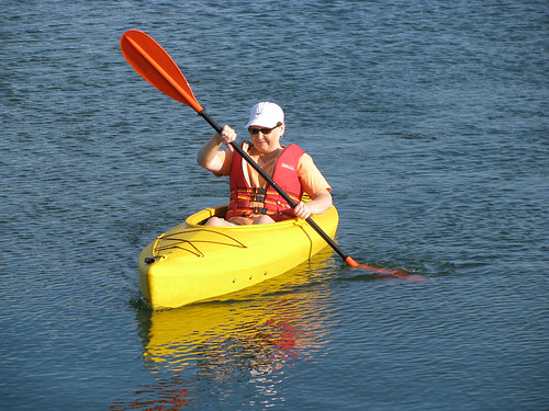 Mom Kayaking