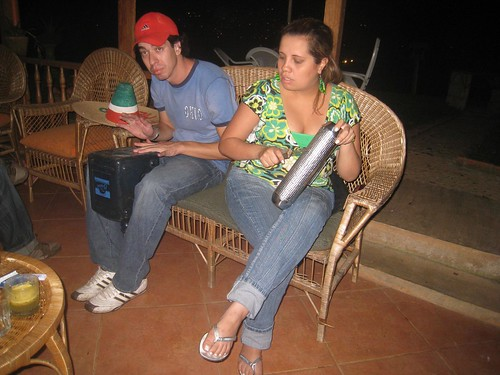 Airton and Andrea making music