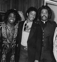 Rev Al Sharpton with Michael Jackson & James Brown