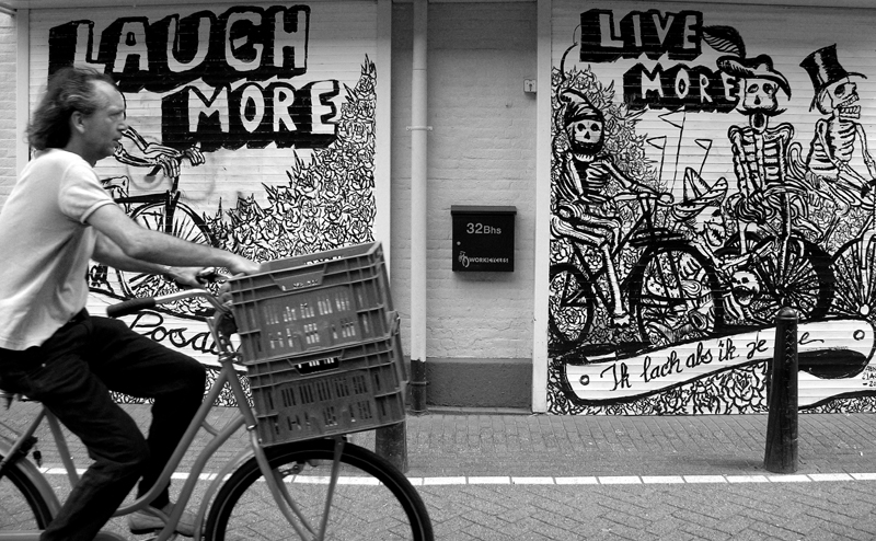 laugh more live more -Workcycles shop-