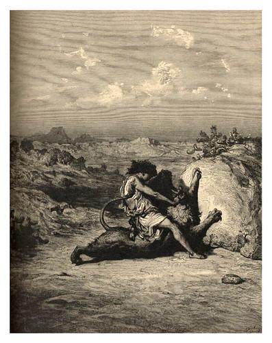 005-Samson matando al leon-Gustave Doré