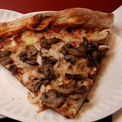 Pizza with Mushroom and Onion