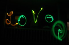 Fun with glow sticks