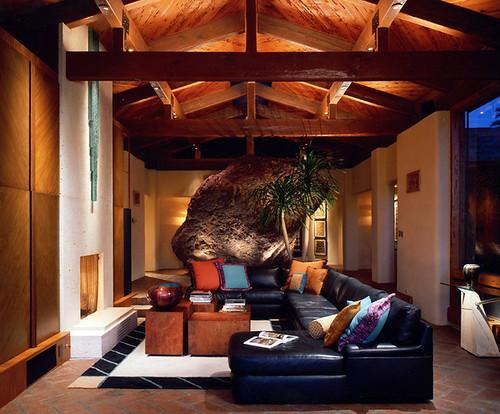 Phoenix house with boulder