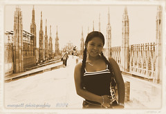 clarisse old style in Milano (Margall photography) Tags: old italy milan girl beauty photoshop photography italia milano philippines style di marco duomo pinay 2009 pinoy clarita galletto margall sombillo