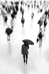 The Umbrella Man (daitoZen) Tags: shadow people urban man blur rain lensbaby umbrella germany walking munich mnchen flow deutschland photography weird holding focus traffic ghost crowd citylife menschen stadt bewegung munchen melt passenger rearview publictransport anonymous protection schatten verkehr rcken angst regen onthemove muenchen masses composer menge selective einsam dissolve nofocus fokus nahverkehr masse masstransportation regenschirm stadtleben blurredmotion umbrellaman  unschrfe withoutatrace ongi berfllt dimly  namelessness anonymitt onsalegi