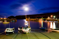 Stonehaven Harbour at Night (Surely Not) Tags: sea moon water night scotland boat nikon long exposure harbour stonehaven d700 yourphototips