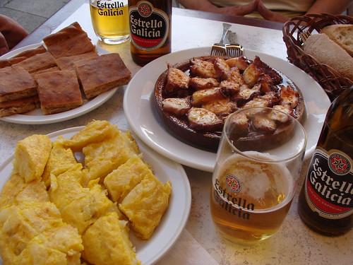 Empanadas, Tortilla, Pulpo