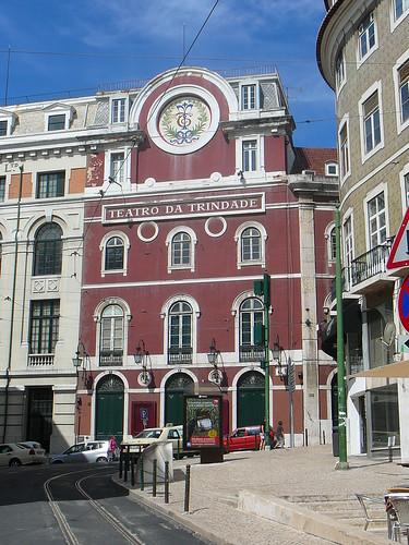 El bonito Teatro da Trindade, en Chiado.