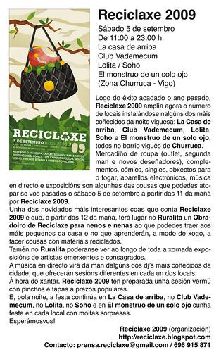 reciclaxe 09, nota de prensa