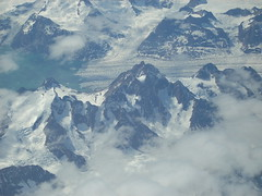 Greenland (Crownrange) Tags: ocean sea snow mountains ice window airplane view seat glacier greenland northern arial mountainsociety