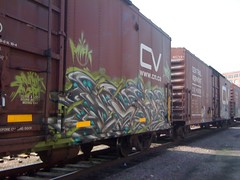 Central Vermont: Paser MFK (+PR+) Tags: yards chicago metal fingers trains boxcar freight mfk benching