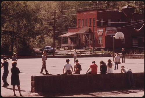 Children During Recess at the Chattaroy, West Virginia School 04/1974