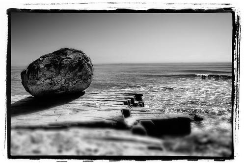 Big Boulder in black & white