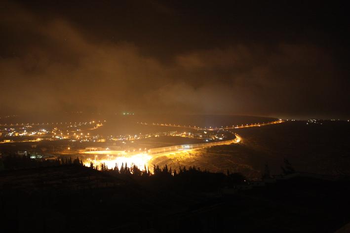 Checkpoint bei Nacht