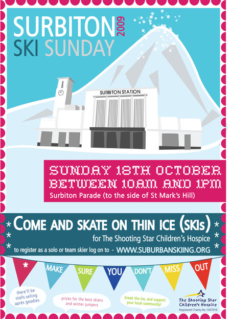 Rosalind Maroney – Surbiton Ski Sunday Poster Artwork