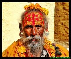 Sadhu(Monk), India (Dr Nabarun Sarkar) Tags: portrait people india man nature face saint fashion photography design costume nice natural native indian monk tribal best oldage rajasthan sadhu humanbeings homosapiens