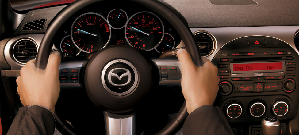 Mazda Miata steering wheel