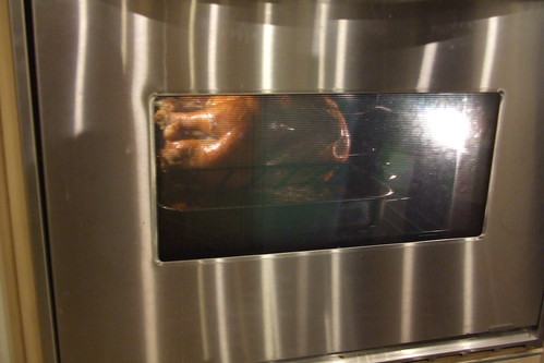 Sneak peek inside the oven door