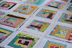 Flea Market Fancy wonky log cabin quilt blocks (oldredbarnco) Tags: log cabin quilt market fancy flea wonky along