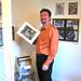 Paul Schultz Admiring C. Mehrl Bennett's Work