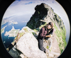 on top of everything else (diebmx) Tags: portrait fish eye film norway analog norge lomo lomography fisheye lofoten reine analogic reinebringen