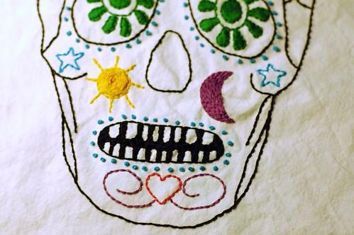 Dia de Los Muertos Sugar Skull Embroidery