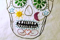 Dia de Los Muertos Sugar Skull Embroidery (binah06) Tags: dayofthedead skull embroidery craft sugar diadelosmuertos stitching