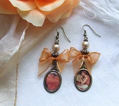 Divining the Future...earrings (mi-nuxa) Tags: handmade earrings 2009 brincos outono flamingjune lordfrederickleighton johnwaterhouse thesorceress prrafaelitas