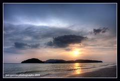 Sunset at Langkawi, Malaysia (opzjon) Tags: travel sunset sea sun beach clouds canon sand shore malaysia langkawi 1740mm hdr lanscape photomatix 40d 06gnd