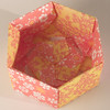 Base Of Decorative Hexagonal Origami Gift Box (with Lid Removed): # 03