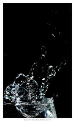 Wine Glass (Scott Kilbourne) Tags: water flash droplet splash strobe offcameraflash eos50d canoneos50d canon50d borderfx