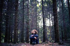 (Ane Lundeby) Tags: trees forest woods curls scared