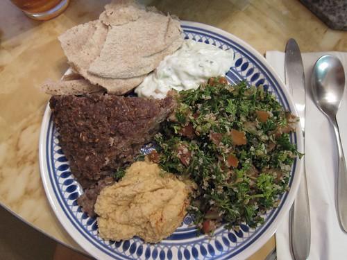 Kibbeh platter