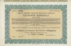 GIUSEPPE RADAELLI SOC. AN. TESSITURA MECC. JACQUARD (scripofilia) Tags: 1932 giusepperadaelli jacquard meccanica obbligazioni radaelli tessitura tessiturameccanicajacquard