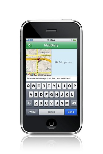 MapDiary iPhone app screenshot