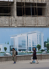 The bright future of Pyongyang North Korea (Eric Lafforgue) Tags: pictures building modern photo war asia picture korea moderne kimjongil asie coree northkorea pyongyang dprk coreadelnorte kimilsung nordkorea    coredunord coreadelnord  northcorea coreedunord  insidenorthkorea  rpdc  coriadonorte  kimjongun coreiadonorte
