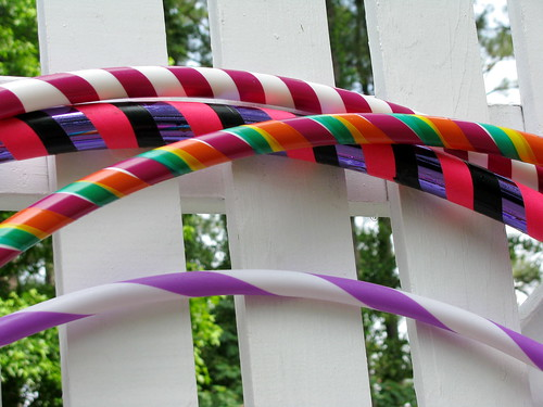 Close up of hoops