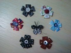 Flores de Fuxico (Minhas Crias) Tags: flor artesanato mini borboleta fuxico joaninha tecido miniaturas trabalhosmanuais retalhos fuxicaria