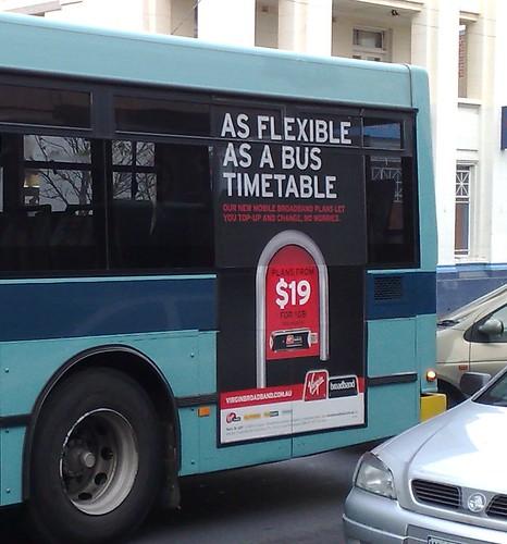 Advert on bus