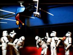 Scotty vs. Stormtroopers - What's Up? (Doctor Beef) Tags: startrek toy actionfigure starwars icecream stormtrooper scotty practicaljoke