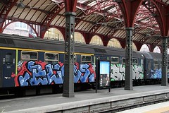 Blows Sabe, Copenhagen, 2009 (KET ONE) Tags: train copenhagen denmark graffiti pieces blows cod burners sabe alanket