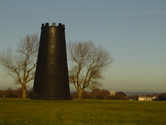 Close up tower (dreamingawake) Tags: trees winter light black history mill tall shape westwood height beverley wintery