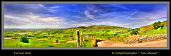 Far and Wide (Irishphotographer) Tags: sky mountain green art nature grass hills panaramic kinkade themournes beautifulireland farandwide imagesofireland kimshatwell irishphotographer breathtakingphotosofnature panaramicimagesofireland sleivecroob beautifulirelandcalander wwwdoublevisionimageswebscom